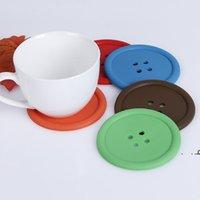 Yeniround Coaster Isıya Dayanıklı Kaymaz Su Şişeleri Pedleri Kahve İçecek Cu Placemat Su Geçirmez Düğme Şekilli Çay Boasters Mat EWB7176