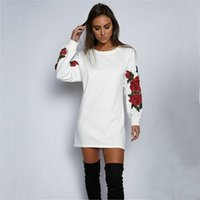 Women's Hoodies & Sweatshirts Fashion Women Autumn Ladies Long Sleeve Embroidery Cotton Casual Pullover Top Clothes