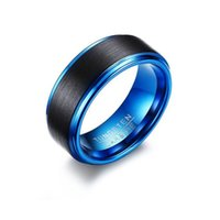Mixed order Valentine's Day gift tyre style 8mm men's tungsten Band rings cubic zirconia jewellry factory KSF050