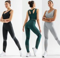 Women Tracksuits seamless pant designs sexy outfits yoga leggings for woman gym set Align pants Elastic Fitness Lady Tights Workout sports active wear Femme suit bra