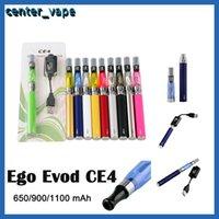 Ego Evod CE4 Blister Starter Kit 650mAh 900mAh 1100mAh EGO-T Battery CE4 Atomizer Clearomizer E Cigarette Vape Kit High Quality