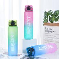 Große Kapazität Gradient Raum Wasser Kunststoff Outdoor Fitness Herren Bounce Cover Farbwechselschale