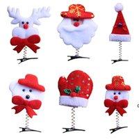 Lindas decoraciones de Navidad Dibujos animados de horquilla Vestido de pelo para niños y adultos Decoración de cabeza Regalos de Navidad Estilo mixto Enviar FWD10694