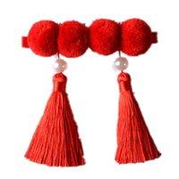 الصيني الأطفال العلاقات الشعر الأحمر ذيل حصان حامل المعلقات مرونة حبل سوار لطيف للأطفال