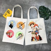 Roronoa Zoro Luffy Sanji One Piece 90s аниме женщины элегантные холст сумки сумки сумки сумки повседневные покупки девушки сумочка