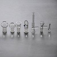 7 estilos Fumar vidrio Adaptadores desplegables para las narechos Agua Agua Adaptador de bong Macho / Mujer con 14mm 18mm Bubbler Cenillero Accesorios de humo