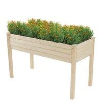 EE.UU. Warehouse Planter Plantación de madera Marco Tipo de pie altos para jardines Patios Flor Little Arbusto 123 * 57 * 76cm