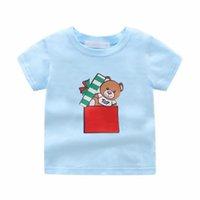 15 styles Designer kids boys girls t-shirts polo clothes Little bear gift t shirt print children baby Infant Short Sleeve Cotton tee clothing