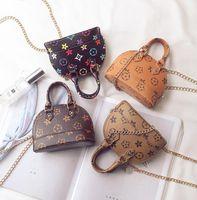 HBPかわいい素敵な子供たちの財布の小さな10代の贈り物財布韓国のファッションプリントデザイナーミニハンドバッグ子供革のシェルショルダーバッグ4色DHL無料