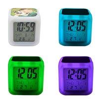 LED 테이블 시계 승화 공백 광선 전자 광선 침실 다채로운 알람 미리 알림 시계 어린이 8 종류의 벨소리 WWA284