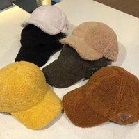 Sonbahar ve kış sıcak kalınlaşmış beyzbol şapkası erkek ve kadın kuzu tüyü ördek dil kap satım örme şapka saf renk ışık plaka gelgit şapka