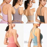yogaworld-lu womens outfit lu tanks lulu yoga bra gym align training top tops beauty plastic sports underwear women gather running fitness for woman 0101 85VF#