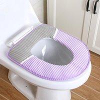 Tragbare Wiederverwendbare Warm Plüsch Toilettenmatte Set Waschbare Toilette Kommode Sitzabdeckung Bad Dekoration Zubehör Covers
