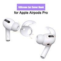 200PCS / Lot Silicone Earputs Case for AirPods Pro Anti-Lost Eartip Ear Hook Cap Cover Apple Bluetooth Earphone Tillbehör