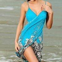 Scarves Women Beach Dress Sexy Sling Wear Sarong Bikini Cover-ups Wrap Pareo Skirts Towel Flower Open-Back Selling