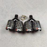 2 أجزاء مزورة الكربون سيارة العادم كاتم الصوت نصائح ل AK العالمي Y نمط الأسود الفولاذ المقاوم للصدأ النظام الخلفي