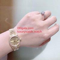 إمرأة الماس ووتش 69178 26 ملليمتر كبيرة المكبر الذهب الطلب ميكانيكية الياقوت مرآة الصلب سوار السيدات الفاخرة الساعات للماء