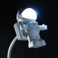 Night Lights USB Light LED Astronaut Shape Portable Lighting Lamp Adjustable Foldable For Computer PC Laptop Novelty Spaceman Decor