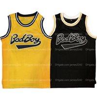 Shippvon us biggie smalls # 72 badboy basketball jersey männer alle genäht schwarz gelb größe s-3xl hochwertiges shirt
