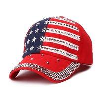 High Quality Blingbling Rhintone Campaign Sports Cowboy Caps USA Trump 2024 Hats