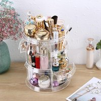 Storage Boxes & Bins Makeup Organizer Plastic Jewelry Lipstick Container Shelves Brush Holder Clear Beauty Display Stand Case Cosmetics