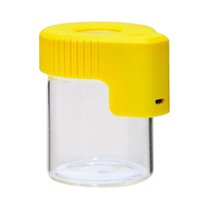 Led Magnifying Stash Jar Cookies Mag Magnify Viewing Container Glass Storage Box USB Rechargeable Light Smell Proof ZZA6144