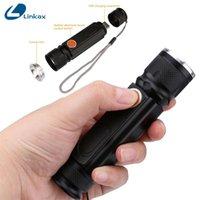 LUMIPARTY USB rechargeable de 5000lm COB T6 LED avec aimant XM-L Handy Flash Light Light Pocket lampe de poche lampe de poche torches
