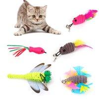 Relabelos de reemplazo de plumas de juguetes para juguete para juguete teaser varita receptor recarga ratón ratón libélula peces forma polo mascota