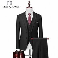 Marka Erkekler Suit 2020 Son Ceket Pantolon Tasarımlar Klasik 3 Parça erkek Düğün Damat Suits Slim Fit Ekose Takım Elbise Ceket Pantolon Yelek C6NG #