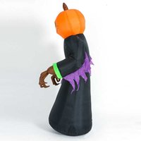 Giant Halloween Inflatable LED Lighted Decoration Pumpkin Ghost Grim Reaper Scary Holloween Party Decor Outdoor Toys H0916