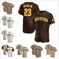 San Diego 23 Fernando Tatis Jr. Jersey # 9 Jake Cronenworth Manny Machado Custom Trent Grisham Adam Frazier Eric Hosmer Tony Gwynn Jerseys de béisbol 100% cosido