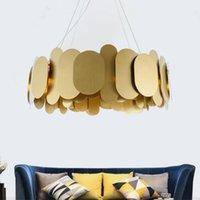 JMMXIUZ Современное освещение люстры для гостиной творческий дизайн золото светодиодные дома обедающие промышленные люстры