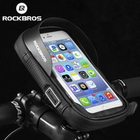 ROCKBROS Bicycle Bag 6 Inch Rainproof TPU Touch Screen Cell Bike Phone Pouch Holder Cycling Handlebar Bags MTB Frame Phones Case