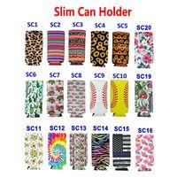 12 oz Slim Can Sleeves Drink Halter Neopren isolierte Tasche Tasche Beutel