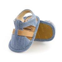 Sandals Arrival Summer Prewalkers Plaid Baby Boys Cotton Fabric Soft Sole Infant Crib Shoes Moccasins