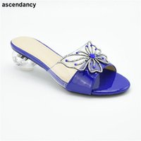 Dress Shoes 2021 Special Arrivals Wedding Blue Color Nigeriain Shoe Italian In Women High Quality African Sexy Platform Pumps
