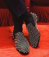 Успешный джентльмен бизнес одуванчик шипы кроссовки обувь Элегантная красная нижняя обувь Высокое качество повседневное красно единственное платье вечеринка свадьба EU35-46