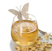 Силиконовая бабочка дизайн чая ситечко свободных чайных лист