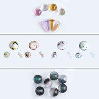 Accesorios para fumar perlas Dihcro Bolas de colores Terp Tornillo Juego de tornillo de 20 mm 14 mm 22 mm 25 mm Traje de perlas de vidrio para Slurper Quartz Banger