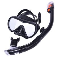 Diving Masks Scuba Mask Set Anti-Fog Frameless With Tempered Glass Lens Anti-Leak Easy Breathing Foldable Snork