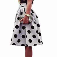 Sleeper Fashion Bodycon Polka Dot Womens Skirts Umbrella Retro Puff Casual Wear Summer Charm Drop