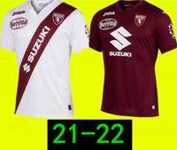 Kundenspezifisch 20-21 Torino Home Thai Quality Fussball Jersey Hemden Belotti 9 Baselli 8 ZAZA 11 Vojvoda 27 Benutzerdefinierte Online-Großhandel Rabatt billig