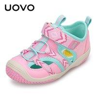 여름 아이 신발 Uovo 브랜드 닫힌 발가락 유아 소녀 핑크 샌들 스포츠 아기 소년 블루 3 4 5 6 년
