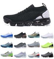 En Kaliteli Chaussures MOC 2 Laceless 2.0 Koşu Ayakkabıları Üçlü Siyah Tasarımcı Erkek Kadın Sneakers Buharlar Sinek 1.0 Beyaz Örgü 3.0 Yastık Eğitmenleri Zapatos