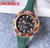 High quality fashion womens mens quartz watch 41MM Diamonds Ring bezel Sapphire Ladies Rubber Silicone Buckle Wristwatches Nice clock gifts