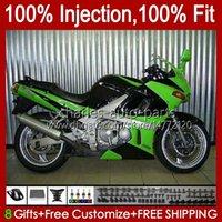 Iniezione Body per Kawasaki Ninja ZZR400 ZZR-400 Green Glossy ZZR-600 00 01 02 03 04 05 06 07 84HC.56 ZZR 600 400 ZZR600 1993 1994 1995 1996 1997 1998 1999 Kit carenatura OEM