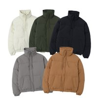 Double-line stand-up collar high-street thick solid color down and bread padded jacket #4160