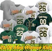 Personalizzato 2021 Oakland 28 Matt Olson Athletics Jersey 26 Chapman 9 Reggie Jackson 24 Rickey Henderson 50 Fiers 2 Khris Davis Baseball Maglie da baseball