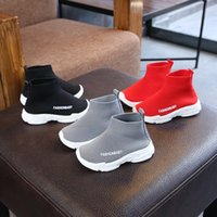 Athletic & Outdoor 2021 Autumn Kids Sneakers Children Casual Shoes Slip-on Breathable Socks Non-slip Snow Boots Boys Girls Sport