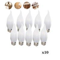 Birnen 10x E12 / E26 E27 E14 B22 B15 Dimmable 2835 SMD Flame Kronleuchter Birne LED, 25W Halogen ersetzen, für Zuhause Dekorieren